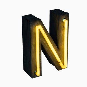 Vintage Neon Buchstabe N