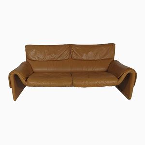 Modell DS-2011 Sofa aus Leder in Hellbraun von De Sede