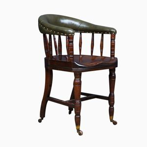 Antique Desk Chair with Scalloped Seat