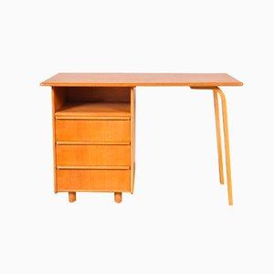 Oak & Plywood Desk by Cees Braakman for Pastoe, 1950s