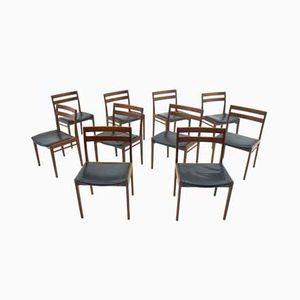 Chairs by Henry Rosengren Hansen for Brande Møbelindustri, 1960s, Set of 10