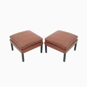 Footstools by Borge Mogensen for Fredericia, Set of 2