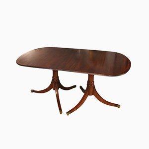 English Hepplewhite Mahogany Dining Table, 1920s
