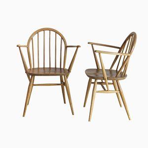 Holzstühle mit Rundem Rücken von Ercol, 2er Set