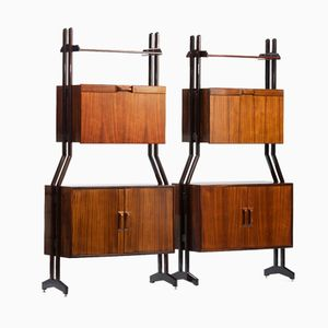 Italian Rosewood Wall Units from Dassi, Set of 2