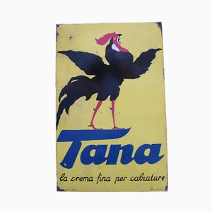 Vintage Industrial Tana Sign, 1950
