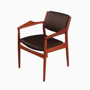 Vintage Modell 51A Armlehnstuhl aus Teak & Eichenholz von Arne Vodder für Sibast