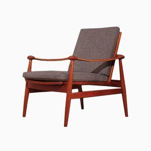 Modell 133 Lounge Armlehnstuhl von Finn Juhl für France & Son, 1950er
