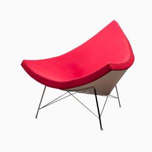 Roter Coconut Stuhl von George Nelson für Vitra, 1950er
