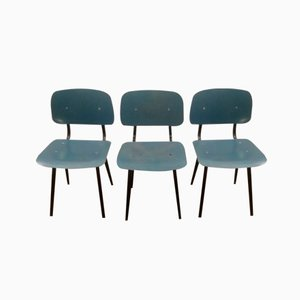 Revolt Chairs by Friso Kramer for Ahrend de Cirkel, 1954, Set of 3
