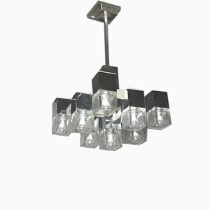 8-Light Cuba Chandelier by Gaetano Scolari