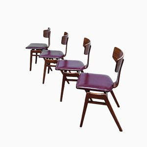 Vintage Dining Chairs by Cees Braakman for Pastoe, 1950s, Set of 4