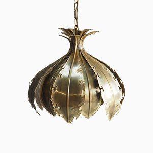 Brutalist Brass Hanging Lamp by Aage Holm Sørensen for Holm Sørensen & Co.
