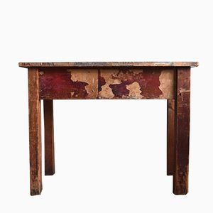 Grande Table Vintage Industrielle en Bois