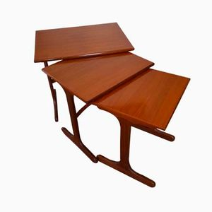 Modern Danish Teak Nesting Tables, Set of 3