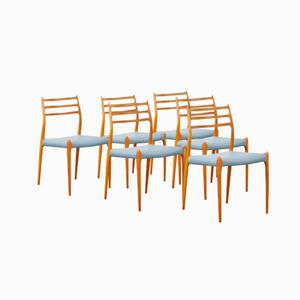 No. 78 Teak Dining Chairs by Niels Møller for J.L. Møllers, Set of 6