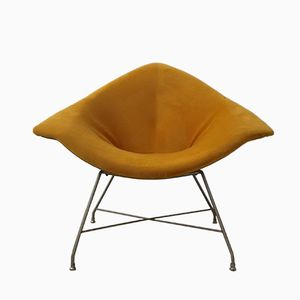 Golden Lounge Chair by Augusto Bozzi for Saporiti, 1960s