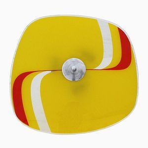 Deckenlampe aus Glas in Gelb