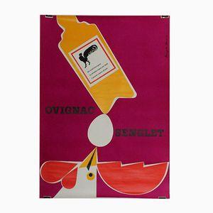 Affiche Lithographique par Hanspeter Sommer pour Ovignac-Senglet, Suisse, 1959
