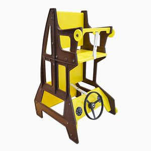 Multifunctional Yellow Children's Chair from Nuvaro Ruaro, 1970s