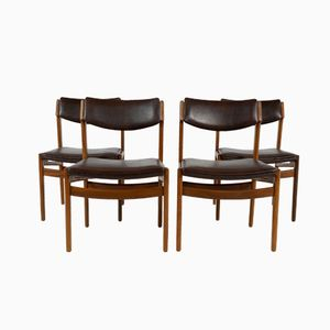 Teak Dining Chairs from TopForm, 1960s, Set of 4