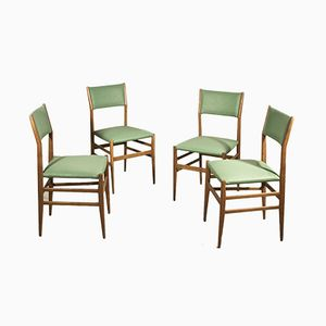 Leggera Dining Chairs by Gio Ponti for Cassina, 1955, Set of 4