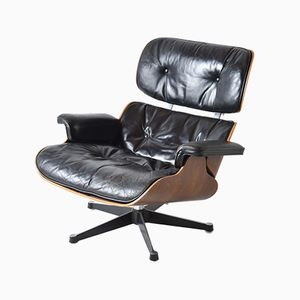 Leather Lounge Chair by Charles and Ray Eames for Herman Miller, 1960s