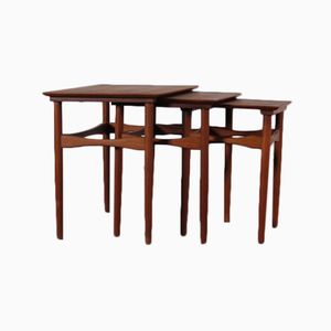 Mid-Century Danish Nesting Tables by Poul Hundevad for Fabian, Set of 3