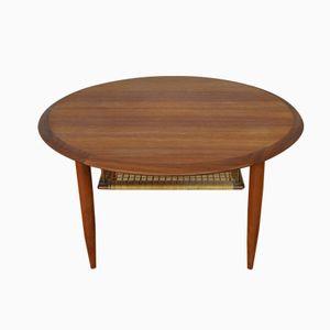Cane Shelf Side Table, 1960s