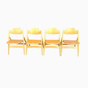 SE18 Foldable Plywood Chairs by Egon Eiermann for Wilde & Spieth, Set of 4