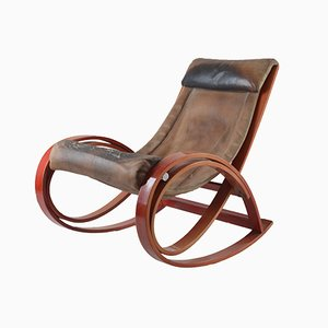 Rocking Chair Sgarsul par Gae Aulenti pour Poltronova, 1962