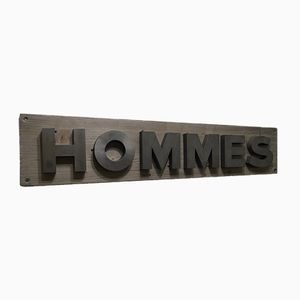 French Hommes Store Sign, 1950s