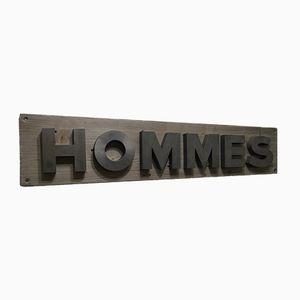 Panneau de Magasin Hommes, France, 1950s