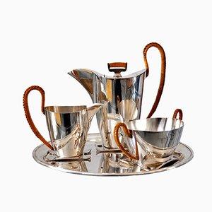 Servizio da caffè placcato in argento di Argentor Vienna