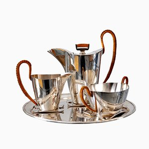 Silver-Plated Mocca Service Set from Argentor Vienna
