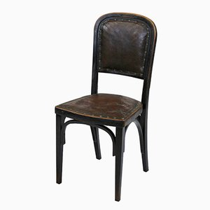 Vienna Secession Side Chair by Gustav Siegel for J. & J. Kohn, 1914