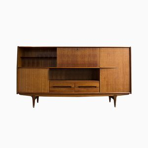 Mid-Century French Teak Credenza for Meubles Simat