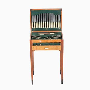 British Art Deco Canteen of Cutlery Table from Rattray & Co, 1930s