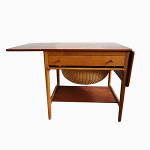 Mid-Century Danish Sewing Table by Hans J. Wegner for Andreas Tuck