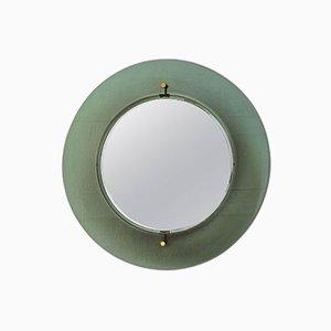 Italienischer Spiegel mit Farbigem Glasrahmen von Fontana Arte, 1950