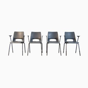 industrial dining chairs by philippus potter for ahrend de cirkel set of 4
