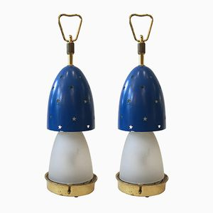 Italian Stelline Table Lamps by Angelo Lelli for Arredoluce, 1950s, Set of 2