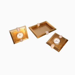 Clocks and Trays Set by Tommaso Barbi, 1970