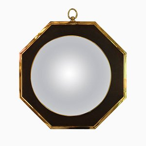 French Oval Wall Mirror from Maison Jansen, 1970s
