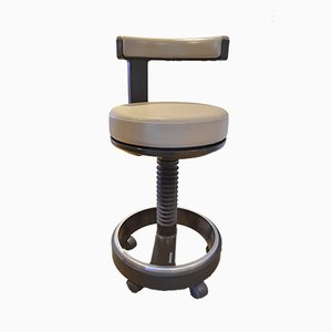Vintage Industrial German Office or Medical Stool from Siemens, 1970s