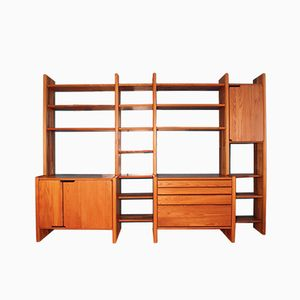 French Elm Library Unit from Pierre Chapo, 1980s
