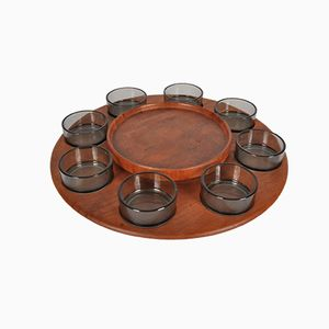 Lazy Susan Carousel Serving Tray from Digsmed Denmark, 1950s