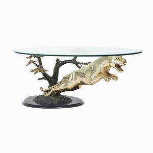 Brass Panther Coffee Table, 1970s