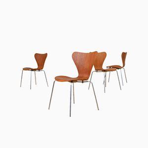 Mid-Century Danish Model 3107 Teak Side Chair by Fritz Hansen