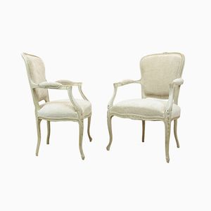 Antique Louis XV Style Chairs, 1900s, Set of 2